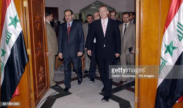 British Prime Minister Tony Blair meets with Nouri Al Maliki the new Prime Minister of Iraq's National Unity Government in Baghdad