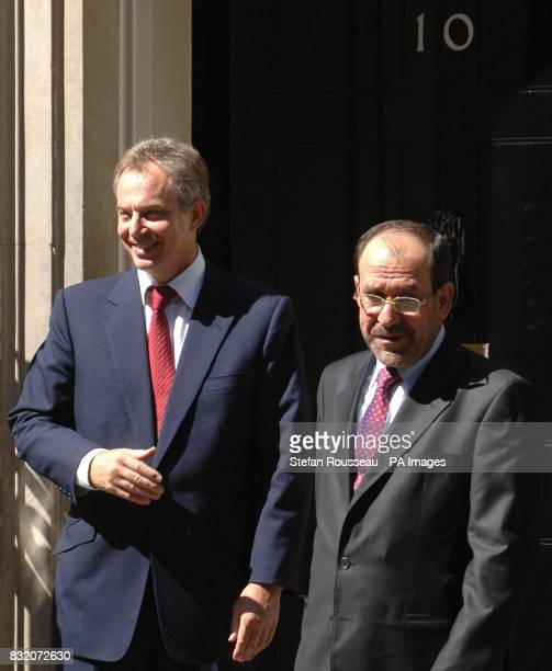 British Prime Minister Tony Blair says goodbye to Iraqi counterpart Nouri Maliki outside 10 Downing Street