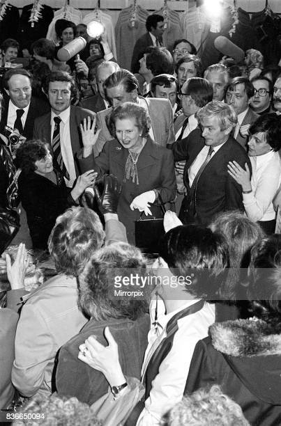 British Prime Minister Visits Belfast Northern Ireland May 1981 Mrs Thatcher in a Belfast store Mrs Margaret Thatcher flew out of Northern Ireland...