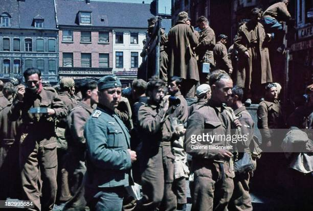 British prisoners and German soldiers Dunkirk France 1940 The Battle of Dunkirk was the defence and evacuation of British and allied forces in Europe...