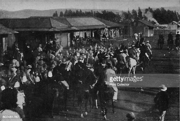 British prisoners of war during the Boer War being transported in Pretoria 1900 From Black White Budget Vol III [The Black and White Publishing...