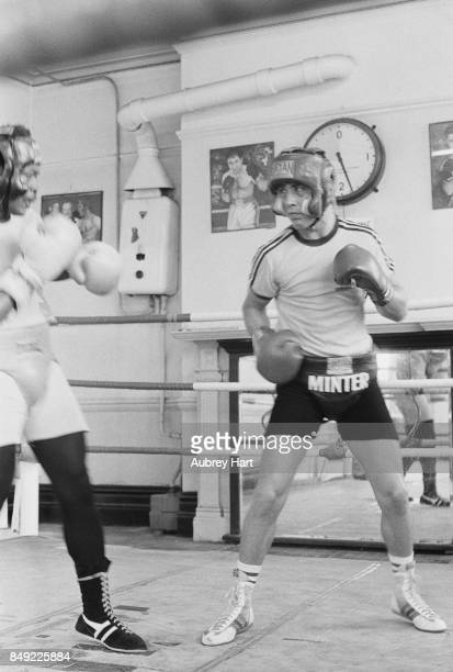 British professional boxer Alan Minter in action UK 13th September 1977