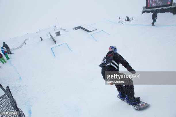 British professional snowboarder Billy Morgan during the 2017 Laax Open Slopestyle competition on 17th January 2017 in Laax Switzerland The Laax Open...