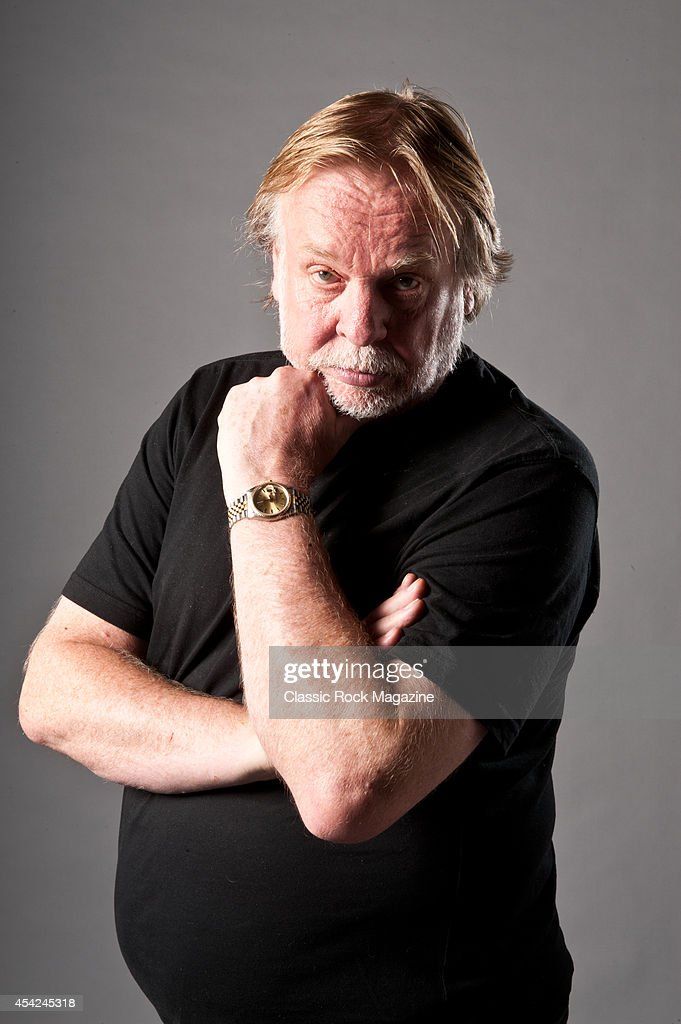 British progressive rock musician Rick Wakeman photographed during a portrait shoot for Classic Rock Magazine, October 2, 2012.
