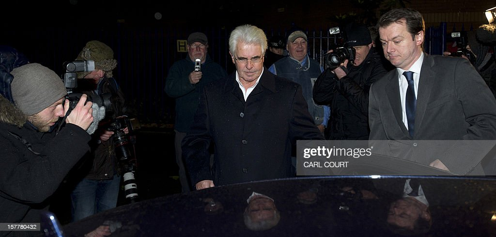 British publicist Max Clifford gets into a car as he leaves a police station in central London on December 6, 2012 after he was released on bail following his arrest on suspicion of alleged sexual offences. Clifford on December 6 said in a statement to journalists that allegations of sexual abuse against him were 'totally untrue' following his arrest by police earlier in the day. Clifford was arrested as part of a wider investigation into sex offences sparked by allegations that late BBC presenter Jimmy Savile was a serial paedophile. AFP PHOTO / CARL COURT