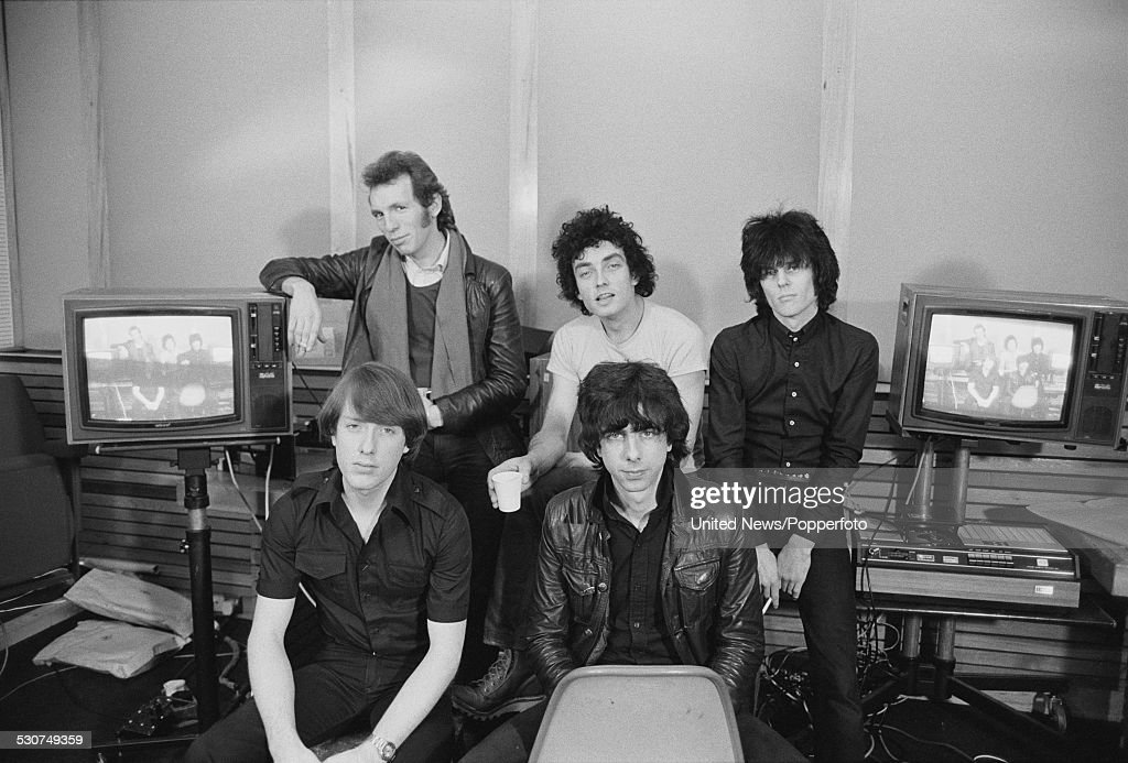 British punk group Warsaw Pakt pictured in London on 2nd December 1977 The band features vocalist Jimmy Coull guitarist Andy Colquhoun drummer Lucas...