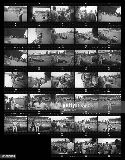 British racing champion Stirling Moss at the Monza Grand Prix in Italy September 1954 Original Publication Picture Post 8156 Monza Grand Prix unpub