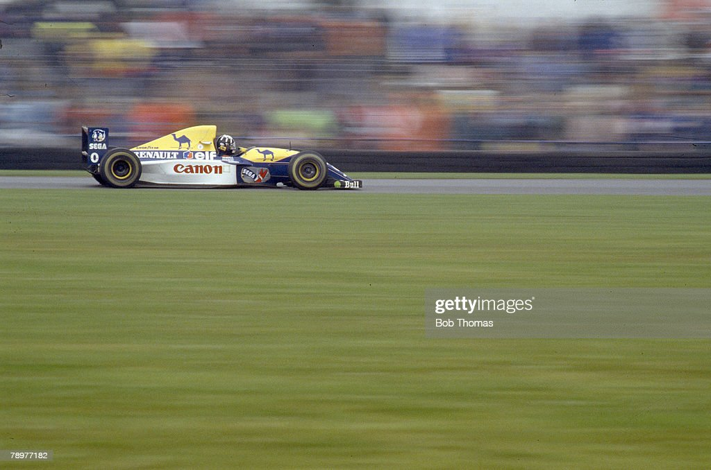 11th April 1993 European Grand Prix at Donington Park Great Britain's Damon Hill who was 2nd in the race