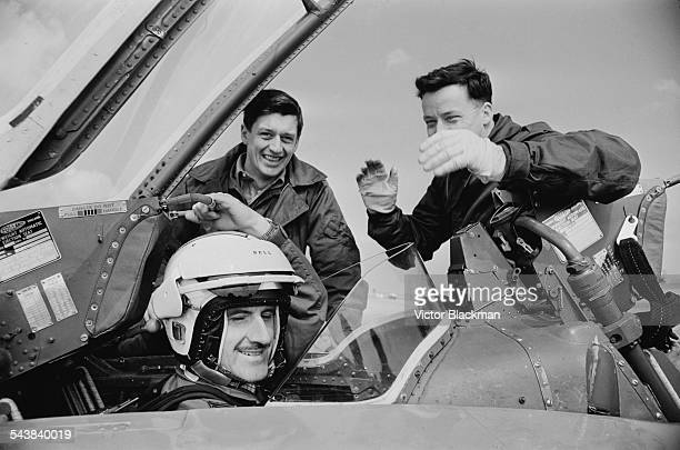British racing driver Graham Hill flying with the Red Arrows 13th April 1967