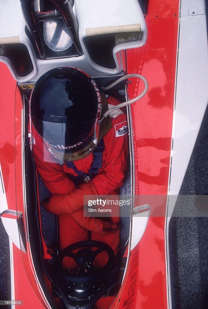 British racing driver James Hunt at the Monaco Grand Prix 22nd May 1977