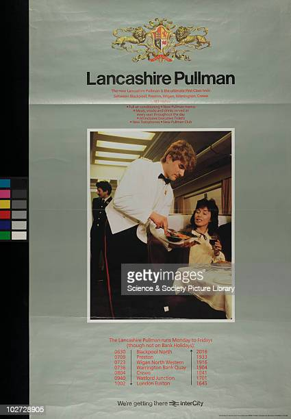 British Railway Poster Central Advertising Services 1986 'Lancashire Pullman' Central Advertising Services 1986