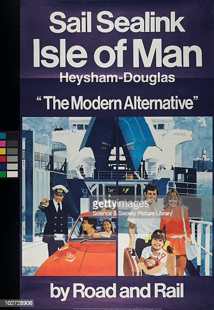 British Railway Poster Central Publicity Unit for Sealink Ltd 1980 Sail Sealink Isle of Man 'The Modern Alternative' Central Publicity Unit for...
