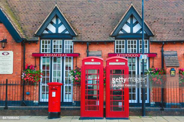 British Red Mailbox and Telephone Booths