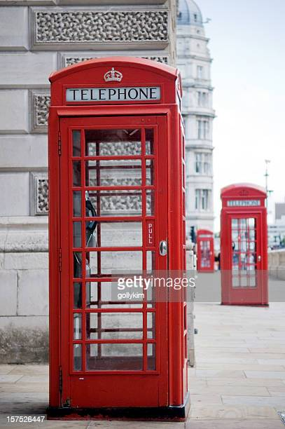 Britische Rote Telefon Box in London