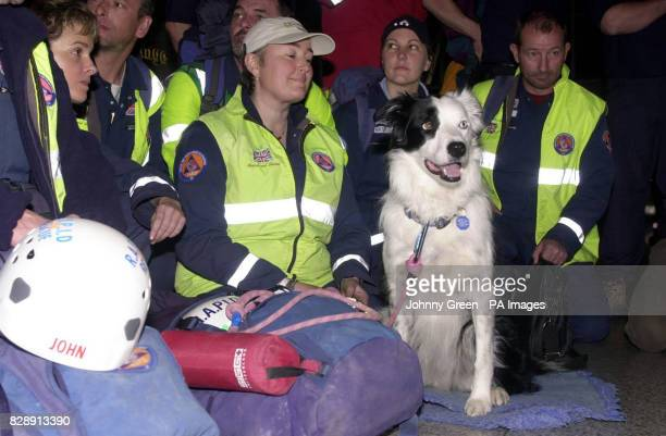 British rescueworkers including RapidUK's team leader John Holland and Sue Shirley at Stansted Airport in the early hours The rescue workers arrived...