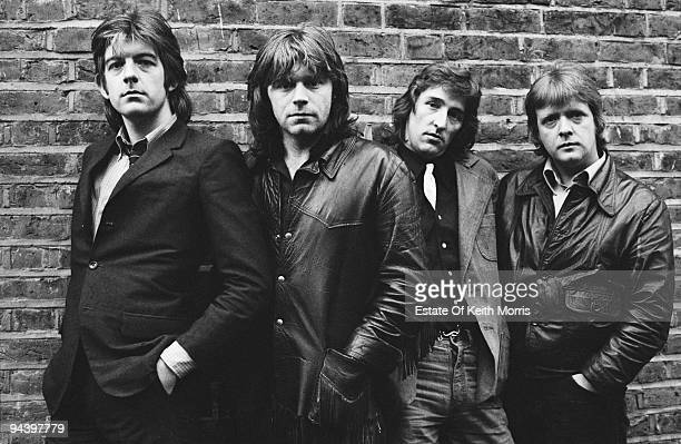 British rock and roll group Rockpile 1977 From left to right they are Nick Lowe Dave Edmunds Terry Williams and Billy Bremner