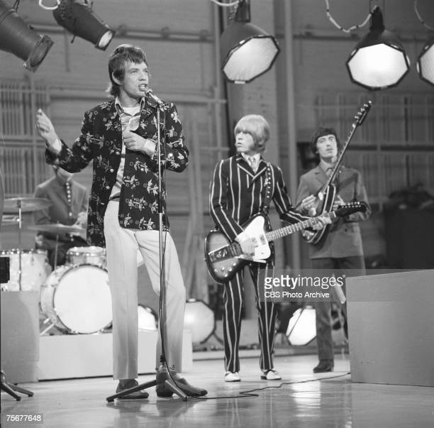 British rock and roll group the Rolling Stones perform on an episode of 'The Ed Sullivan Show' New York New York September 11 1966 Pictured are from...
