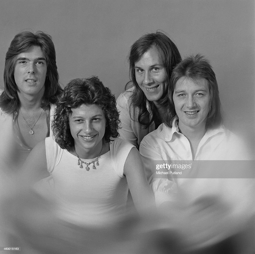 British rock band Home, 8th July 1973. Left to right: bassist Cliff Williams, guitarist Laurie Wisefield, drummer Mick Cook and singer Mick Stubbs (died 1999). Williams later joined heavy metal group AC/DC and Wisefield joined Wishbone Ash.