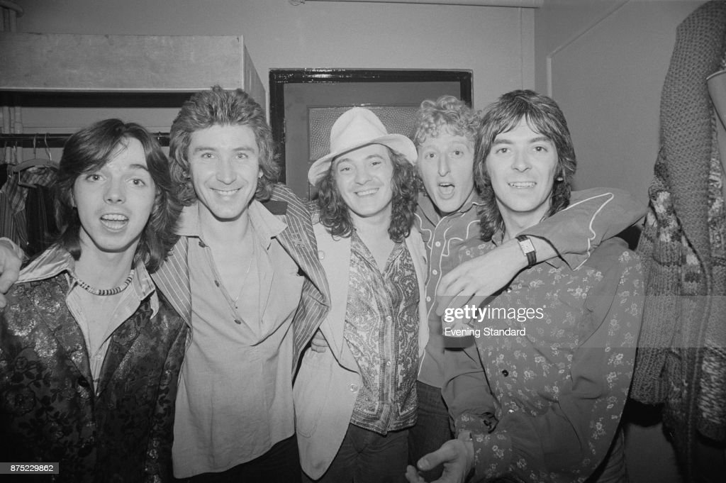 British rock band Small Faces, UK, 26th September 1977. From left to right: Jimmy McCulloch (1953 - 1979), Kenny Jones, Steve Marriott (1947 - 1991), Rick Willis, Ian McLagan (1945 - 2014).