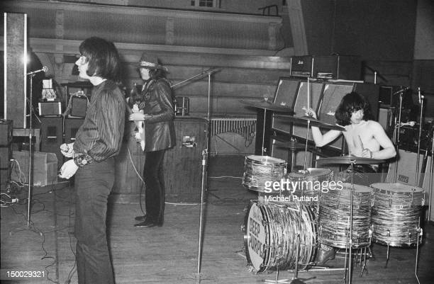 British rock group Deep Purple performing at Goldsmiths College London 7th March 1969 Left to right Ian Gillan Roger Glover and Ian Paice
