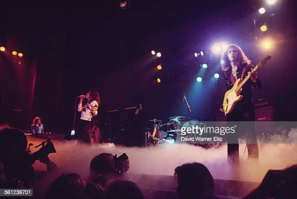 British rock group Deep Purple performing on stage circa 1973 Left to right Jon Lord David Coverdale Ian Paice and Ritchie Blackmore