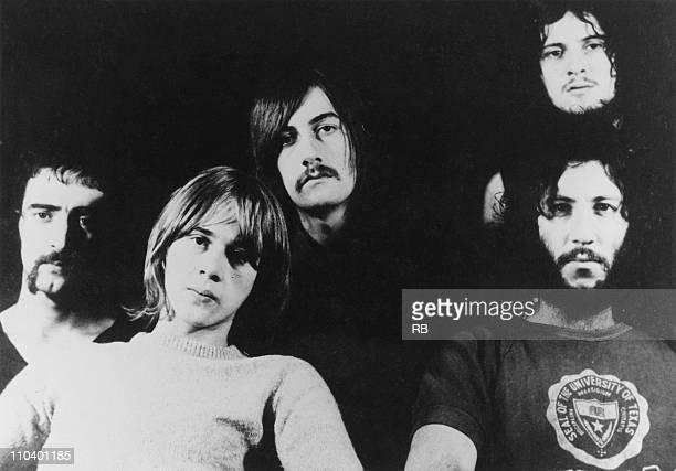 British rock group Fleetwood Mac 1969 Left to right bassist John McVie guitarist Danny Kirwan drummer Mick Fleetwood guitarist Jeremy Spencer and...
