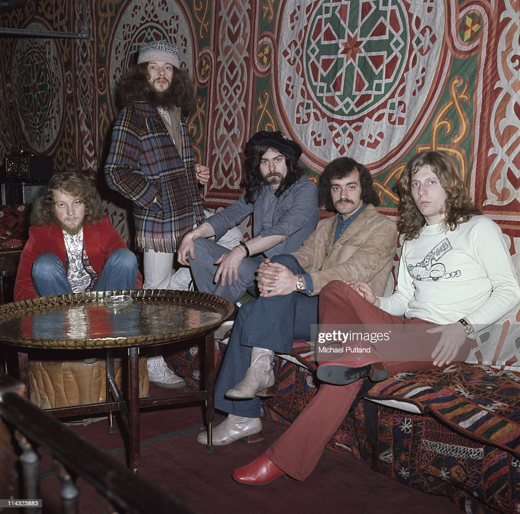 British rock group Jethro Tull, London, 11th March 1971. Left to right: <a gi-track='captionPersonalityLinkClicked' href=/galleries/search?phrase=Martin+Barre&family=editorial&specificpeople=810761 ng-click='$event.stopPropagation()'>Martin Barre</a>, <a gi-track='captionPersonalityLinkClicked' href=/galleries/search?phrase=Ian+Anderson&family=editorial&specificpeople=615834 ng-click='$event.stopPropagation()'>Ian Anderson</a>, Jeffrey Hammond, Barriemore Barlow and <a gi-track='captionPersonalityLinkClicked' href=/galleries/search?phrase=John+Evan&family=editorial&specificpeople=3743676 ng-click='$event.stopPropagation()'>John Evan</a>.