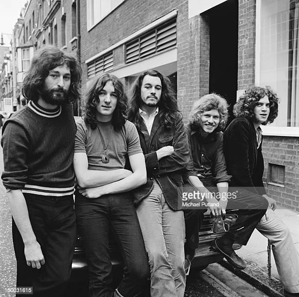 British rock group Supertramp outside the Revolution Club London August 1970 Left to right Rick Davies Roger Hodgson Richard PalmerJames Robert...