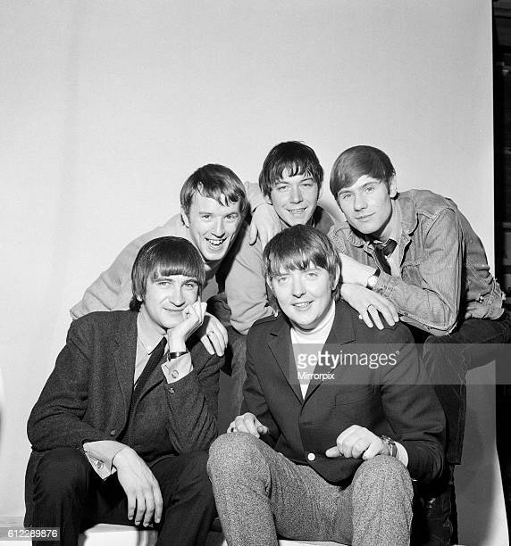 British rock group The Animals Back Row left to right John Steel Eric Burdon and Hilton Valentine Front row Dave Rowberry and Chas Chandler 1st...