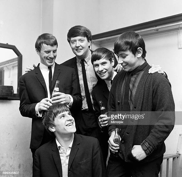 British rock group The Animals pictured in Bath as they celebtate their song House of the Rising Sun reaching Number One in the UK charts Group...