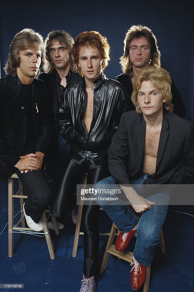British rock group The Babys, 1979. They are vocalist John Waite, drummer Tony Brock, bassist Ricky Phillips, guitarist Wally Stocker and keyboardist Jonathan Cain.