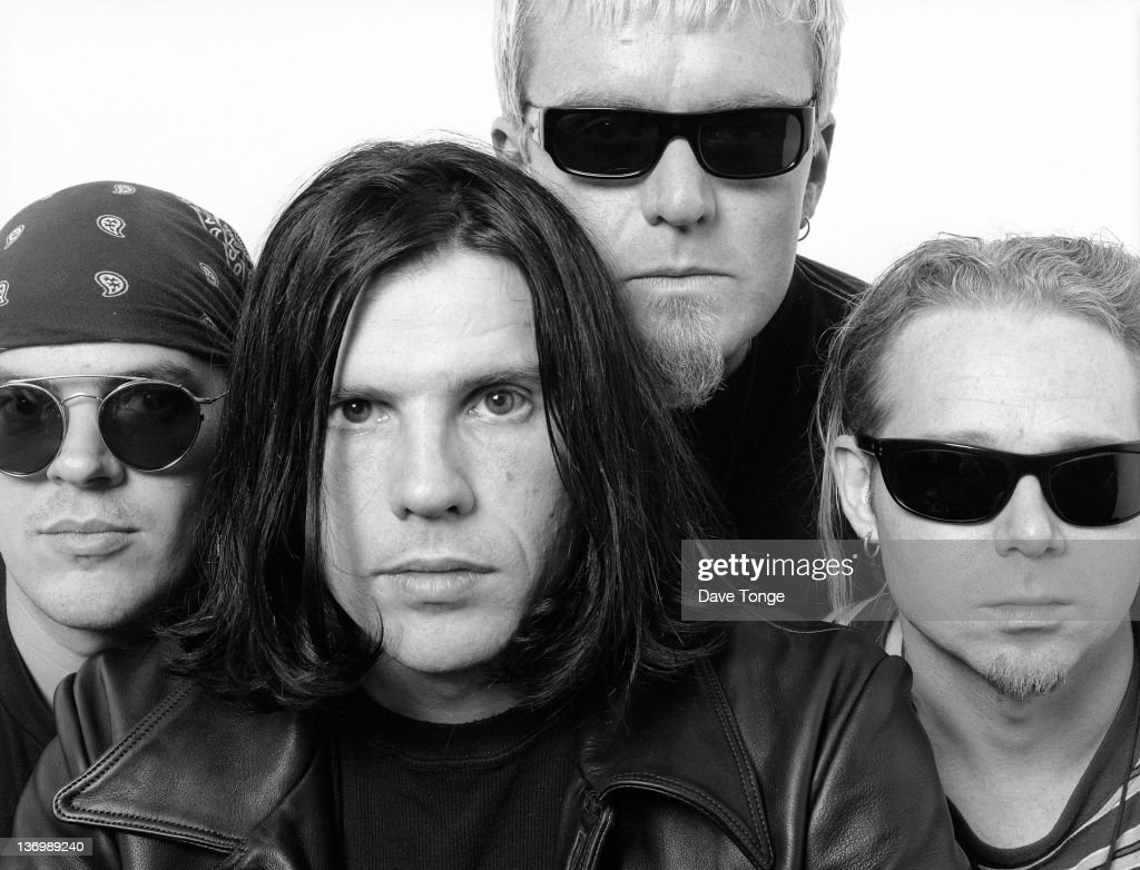 British rock group The Cult, Los Angeles, California, January 1993. Left to right: <a gi-track='captionPersonalityLinkClicked' href=/galleries/search?phrase=Craig+Adams&family=editorial&specificpeople=211144 ng-click='$event.stopPropagation()'>Craig Adams</a>, <a gi-track='captionPersonalityLinkClicked' href=/galleries/search?phrase=Ian+Astbury&family=editorial&specificpeople=240124 ng-click='$event.stopPropagation()'>Ian Astbury</a>, <a gi-track='captionPersonalityLinkClicked' href=/galleries/search?phrase=Billy+Duffy&family=editorial&specificpeople=2085055 ng-click='$event.stopPropagation()'>Billy Duffy</a> and Scott Garrett.