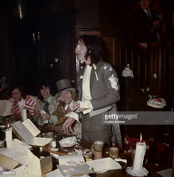 British rock group The Rolling Stones Brian Jones Mick Jagger Bill Wyman and Charlie Watts at the Kensington Gore Hotel where they staged a...