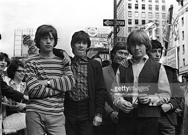 British rock group The Rolling Stones in New York From left to right Mick Jagger Keith Richards Charlie Watts Brian Jones and Bill Wyman