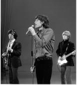 British rock group The Rolling Stones perform during a guest appearance on 'The Ed Sullivan Show' February 13 1966 From left Bass guitarist Bill...