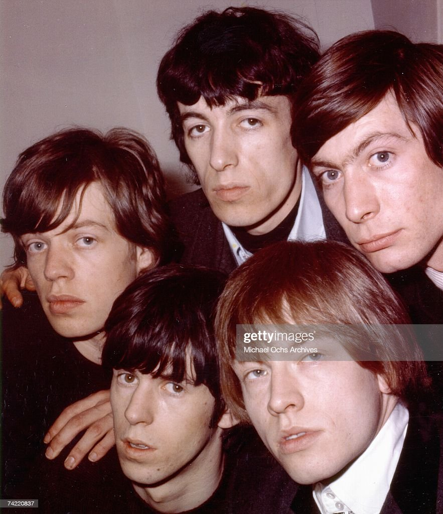 British Rock Group 'The Rolling Stones' pose for a publicity photo in London England circa 1965 Clockwise from left Mick Jagger Bill Wyman Charlie...