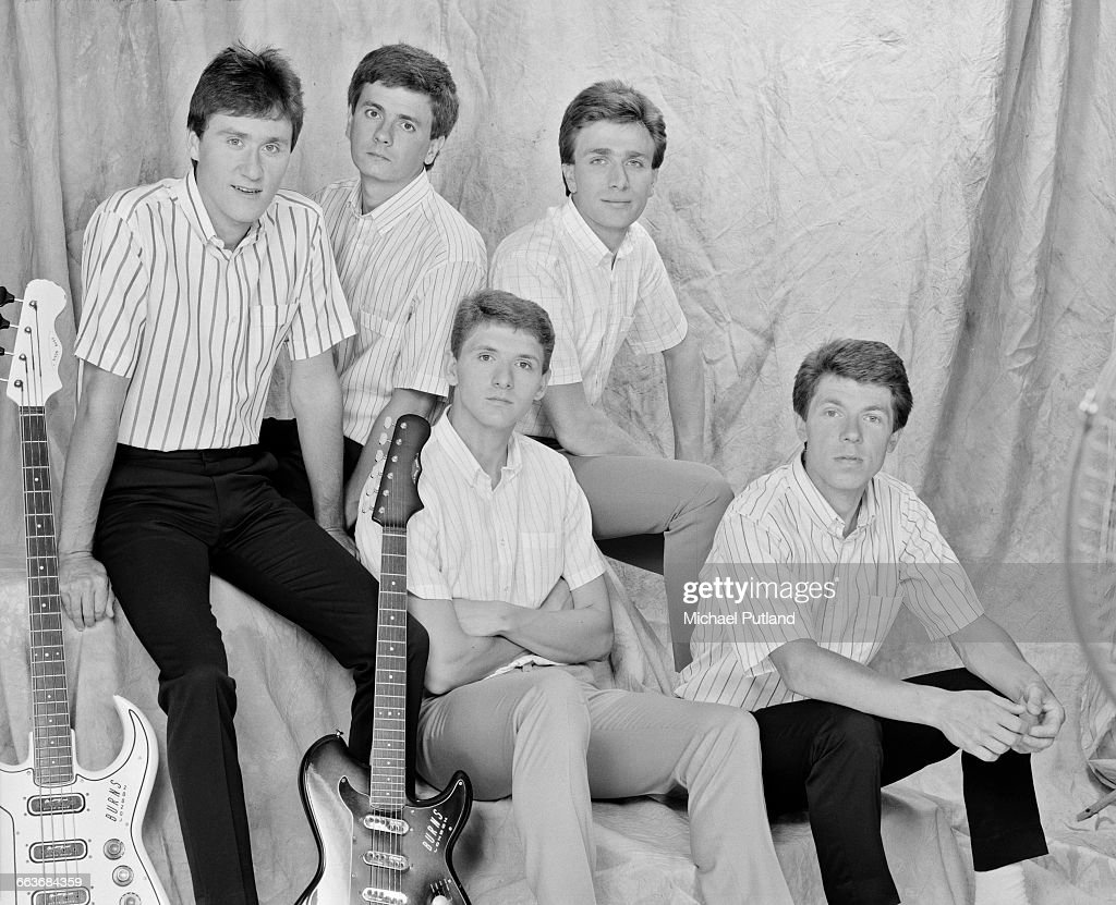 British rock group The Truth August 1983 Left to right singer and guitarist Dennis Greaves bassist Brian Bethell drummer Gary Wallis guitarist Mick...