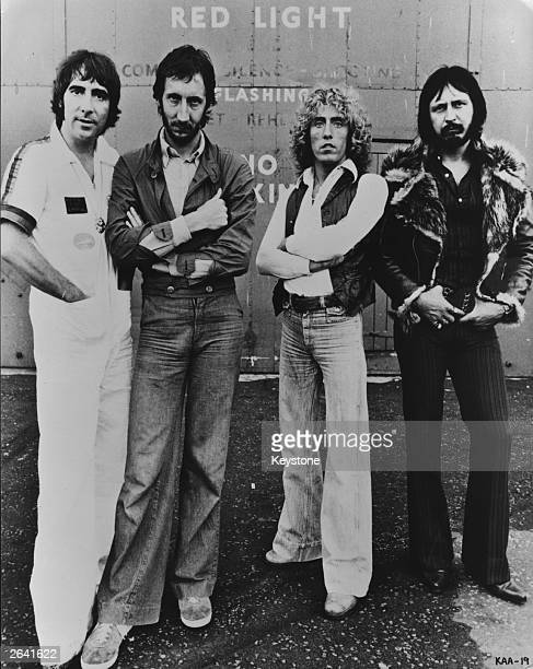 British rock group The Who comprising of from left to right Keith Moon Pete Townshend Roger Daltrey and John Entwistle The group are currently...