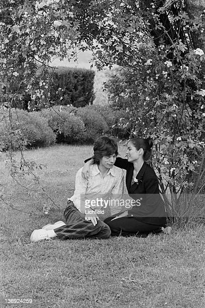 British rock musician Mick Jagger and his fiancee Nicaraguan Bianca Perez Morena de Marcias just before their Wedding in St Tropez France on 8th May...