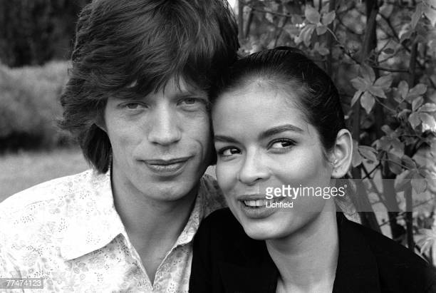 British rock musician Mick Jagger and Nicaraguan Bianca Perez Morena de Marcias just before their Wedding in St Tropez France on 8th May 1971