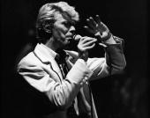 British rock singer and actor David Bowie performs on stage in Brussels Belgium May 19 1983