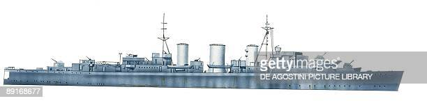 British Royal Navy minelayer HMS Ariadne illustration