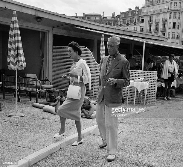 British Royalty Biarritz France August 1958 The Duke and Duchess of Windsor on holiday