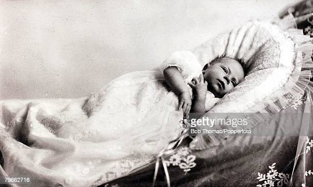 British Royalty HRHPrincess Elizabeth daughter of The Duke and Duchess of York pictured as a very young baby
