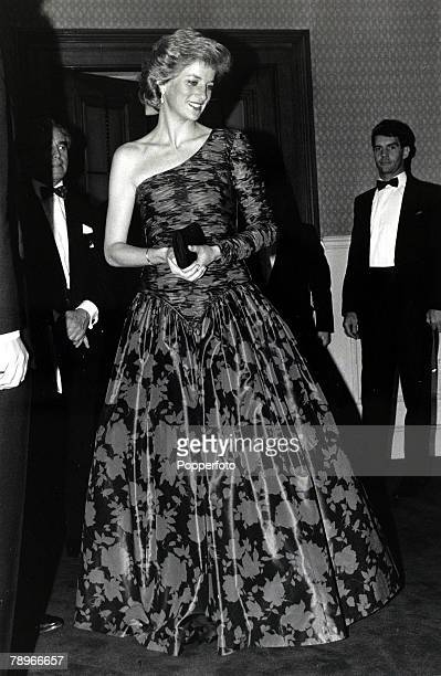 18th October 1989 Diana Princess of Wales pictured at a Royal Albert Hall London concert