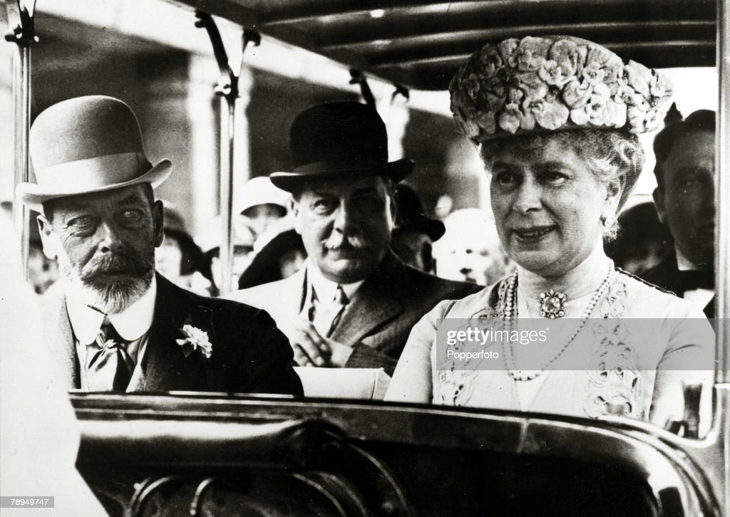 1925, HM, King <a gi-track='captionPersonalityLinkClicked' href=/galleries/search?phrase=George+V&family=editorial&specificpeople=93661 ng-click='$event.stopPropagation()'>George V</a> with the his Consort, Queen Mary, pictured when they attended the Wembley exhibition of 1925, King <a gi-track='captionPersonalityLinkClicked' href=/galleries/search?phrase=George+V&family=editorial&specificpeople=93661 ng-click='$event.stopPropagation()'>George V</a>, (1865-1936) reigned from 1910-1936