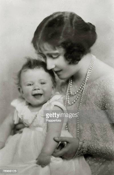 2nd December 1926 HRH The Duchess of York with her baby daughter Princess Elizabeth