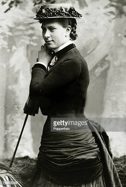 circa 1887 Princess Mary of Teck who was to become Queen Mary the Queen Consort of King George V pictured when she was 20 years of age