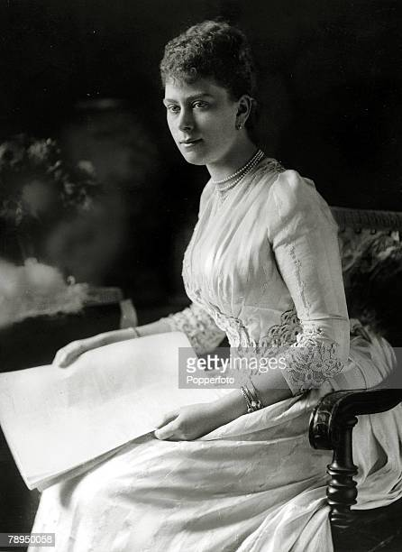 circa 1892 Princess Mary of Teck who was to become Queen Mary the Queen Consort of King George V