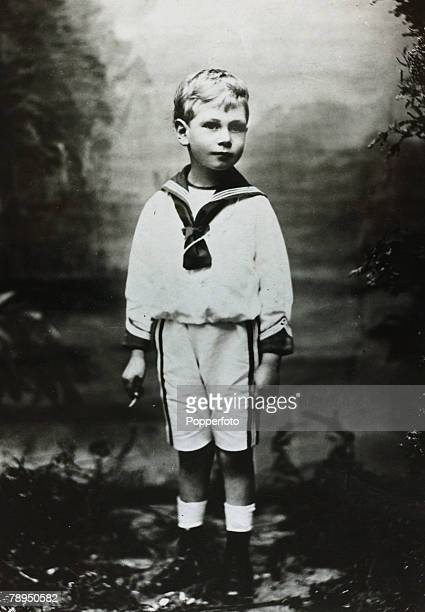 circa 1900 HRH Prince Albert as a young boy pictured in sailor suit Prince Albert was Duke of York and became HMKing George VI in 1936 reigning until...